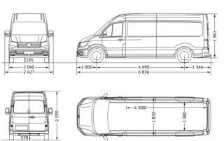 Volkswagen Crafter - rozmery